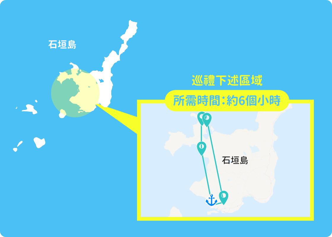 巡禮下述區域 所需時間:約6個小時