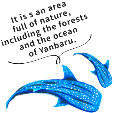 It is s an area full of nature, including the forests  and the ocean of Yanbaru.