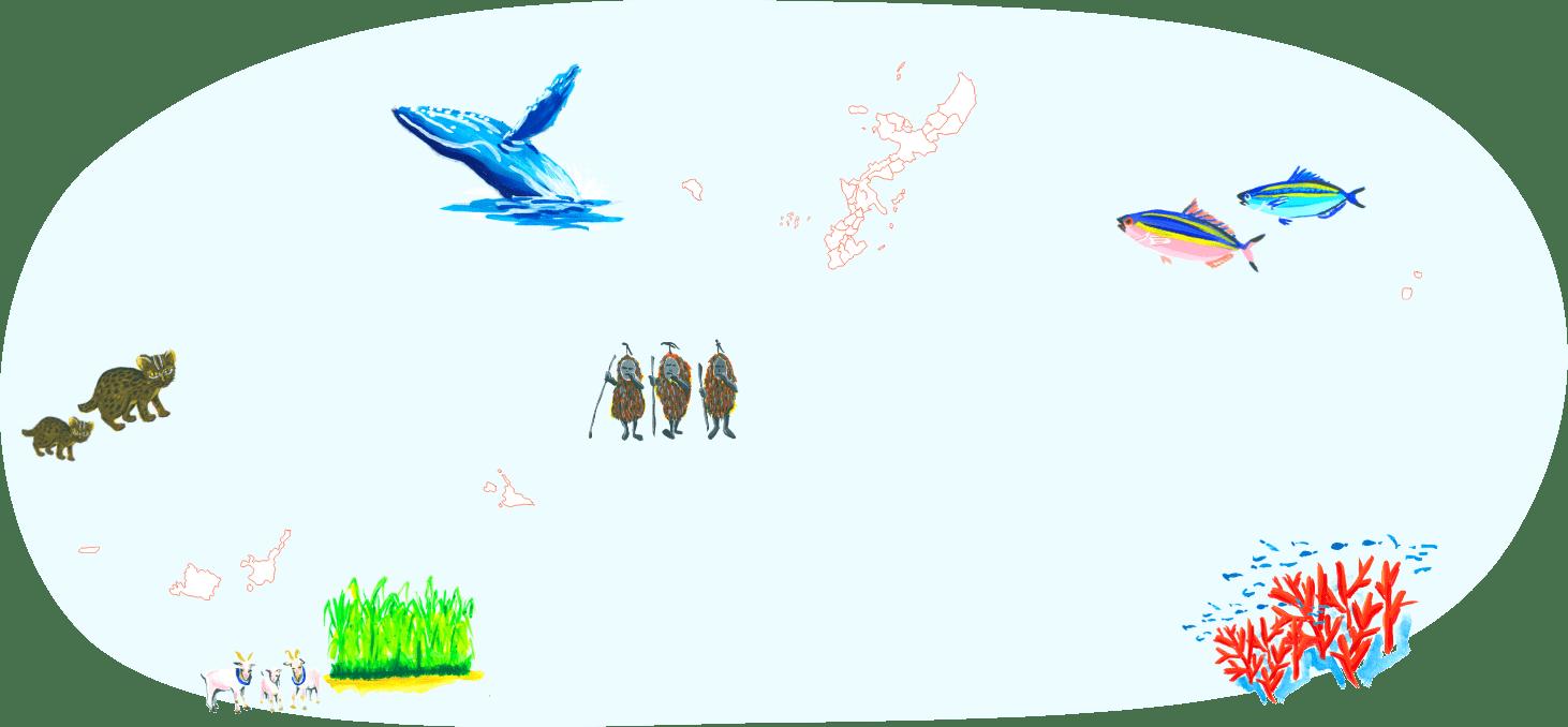 沖縄の離島 地図